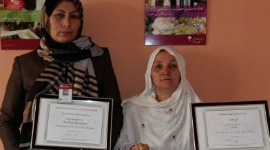 Afghanistan client with AMA award