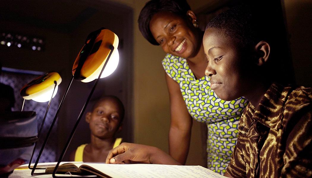 Solar Lanterns help studying