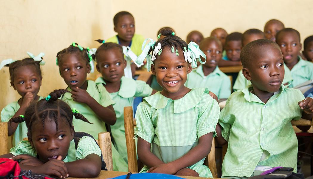 Haiti school kids